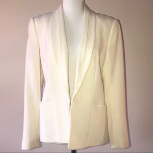 Cream colored deep V blazer